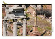 The Temple Of Castor And Pollux At The Forum From The Palatine Carry-all Pouch