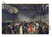 The Tennis Court Oath Carry-all Pouch by Jacques Louis David