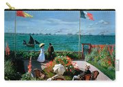 The Terrace At Sainte Adresse Carry-all Pouch by Claude Monet