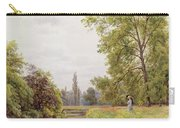 The Thames At Purley Carry-all Pouch by William Bradley