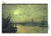 The Thames By Moonlight With Southwark Bridge Carry-all Pouch