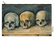 The Three Skulls Carry-all Pouch by Paul Cezanne