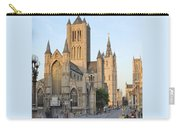 The Three Towers Of Gent Carry-all Pouch by Marilyn Dunlap