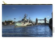 The Tower Hms Belfast And Tower Bridge Carry-all Pouch