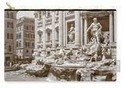 The Trevi Fountain In Sepia Tones Carry-all Pouch