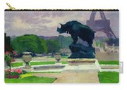The Trocadero Gardens And The Rhinoceros Carry-all Pouch by Jules Ernest Renoux