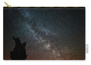 The Trunk Of A Dead Tree, Milky Way And Meteor Carry-all Pouch