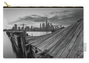The Twisted Pier Panorama Bw Carry-all Pouch