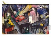 The Unfortunate Land Of Tyrol Franz Marc Painting Of Horses In A Valley Near A Cemetery  Carry-all Pouch