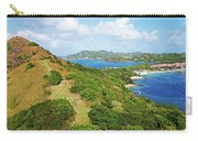 The View From Fort Rodney On Pigeon Island Gros Islet Blue Water Carry-all Pouch