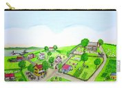 The Village - Colonial Style Art Carry-all Pouch