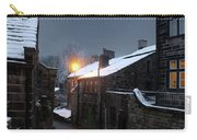 The Village Of Heptonstall In The Snow At Night With Lamps Shini Carry-all Pouch