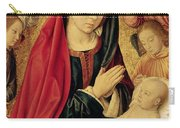 The Virgin And Child Adored By Angels  Carry-all Pouch