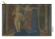 The Virgin And Child Enthroned Carry-all Pouch