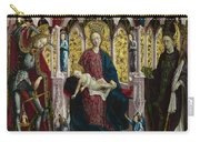 The Virgin And Child Enthroned With Angels And Saints Carry-all Pouch
