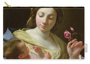 The Virgin And Child With A Rose Carry-all Pouch