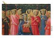 The Virgin And Child With Angels Carry-all Pouch