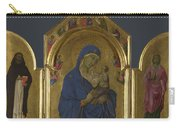 The Virgin And Child With Saints Dominic And Aurea Carry-all Pouch