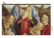 The Virgin And Child With Two Angels Carry-all Pouch by Andrea del Verrocchio