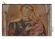 The Virgin And Child With Two Angels Carry-all Pouch