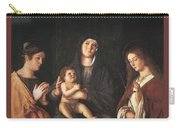 The Virgin And Child With Two Saints Prado Giovanni Bellini Carry-all Pouch