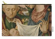 The Virgin And Saint Joseph  Adoring The Christ Child Carry-all Pouch