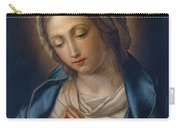 The Virgin At Prayer Carry-all Pouch by Il Sassoferrato