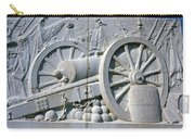 The Vittorio Emanuele Monument Marble Relief Of A Canon Standards Rome Italy Carry-all Pouch