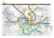 The Washington, D. C. Pubway Map Carry-all Pouch