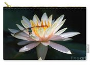 The Water Lily And The Dragonfly Carry-all Pouch by Sabrina L Ryan