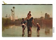 The Way From The Village. Time Of Inundation. Egypt Carry-all Pouch