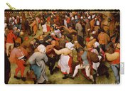 The Wedding Dance Carry-all Pouch by Pieter the Elder Bruegel