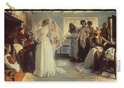 The Wedding Morning Carry-all Pouch by John Henry Frederick Bacon