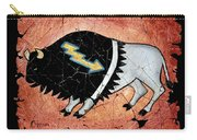 The White Sacred Buffalo Fresco Carry-all Pouch