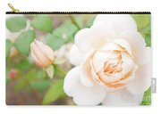 The White Washed Rose Carry-all Pouch