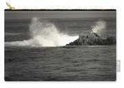 The Wild Pacific In Black And White Carry-all Pouch