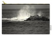 The Wild Pacific In Black And White Two Carry-all Pouch