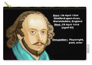 The William Shakespeare Carry-all Pouch