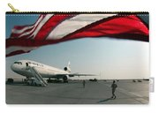 The Wind Blows The U.s. Flag Carry-all Pouch