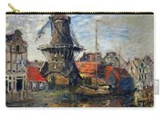 The Windmill Amsterdam Claude Monet 1874 Carry-all Pouch