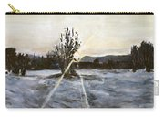 The Winter Sunset With A Bench Carry-all Pouch