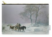The Wintry Road To Market  Carry-all Pouch