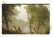 The Wolf River - Kansas Carry-all Pouch by Albert Bierstadt