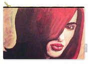 The Woman In Red Carry-all Pouch