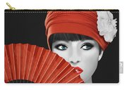 Woman With Paper Fan Carry-all Pouch