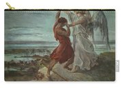 The Wrestle Of Jacob 1855 Carry-all Pouch