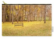 The Yellow Leaves Of Fall Carpet The Ground Of A Ginkgo Biloba Grove. Cm3 Carry-all Pouch