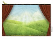 Theater Stage With Red Curtains And Nature Background  Carry-all Pouch