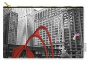 There's A Red Flamingo In Chicago Carry-all Pouch