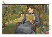 Therese Reading In The Park Of Meric Carry-all Pouch